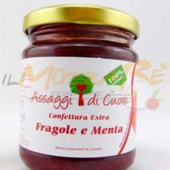 Confettura Artigianale Extra Fragole e Menta – Assaggi di Cuore