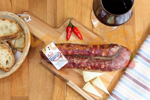 Salsiccia piccante stagionata - Salumificio Barbato